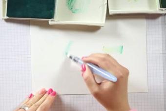 インクパッドを使った色塗り