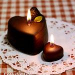 チョコケーキキャンドル(灯し)