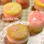 桜クッキーサンドのキャンドル