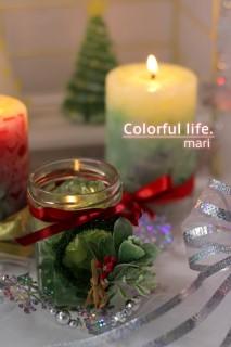 2014年クリスマスジェルキャンドル・灯し(ミニリース付き)