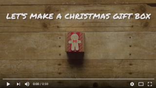Let's Make a Christmas Gift Box