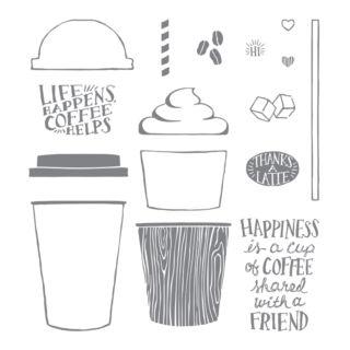 コーヒーカフェ・スタンプセット(イメージ)