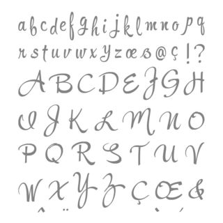 ブラッシュワーク・アルファベット・スタンプセット(イメージ)