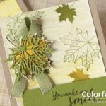 【ダイカット】大きめ楓のグラデーションカード