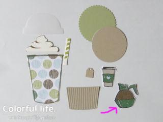 コーヒーカフェの大きめカード(手順3)