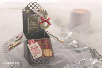 【スタンピン・アップ 体験】クリスマスタウンのボックス型カード