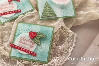クリスマス・ハピネスのレジストカード(アップ)