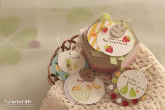 【スタンピン・アップ 体験】フルーツ柄のボックス&タグセット