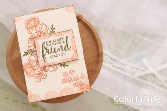【カンタン】ナチュラルかわいいお花のカード