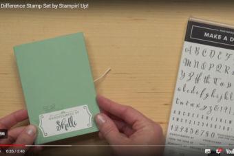【製品紹介・使い方動画】好きな言葉を自由に作れるスタンプ メイク・ア・ディファレンス