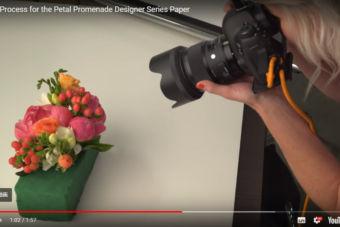 【制作過程】お花の写真がステキなペーパー、ペタルプロムナードの制作過程