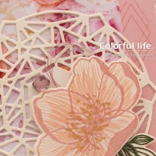 お花とレースのカード(ディティール-ビューティフル・プロムナード)