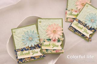 カラフルデイジーの色塗りカード(横-デイジー・ディライト)