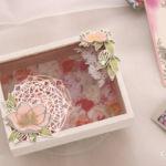 【日程限定 / スタンピン・アップ体験】お花で飾る木製カードボックス