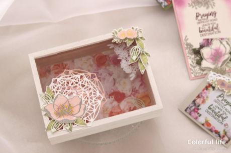 【スタンピン・アップ 体験】お花で飾る木製カードボックス