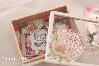 お花で飾る木製カードボックス(中入れ-ビューティフル・プロムナード)