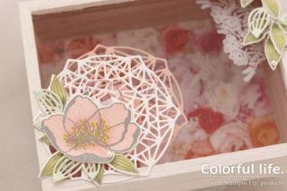 お花で飾る木製カードボックス(ディティール-ビューティフル・プロムナード)