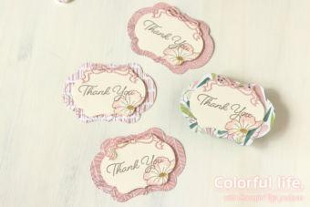 【ダイカット】かんたんお花のタグカード