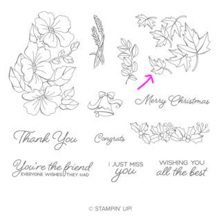 秋に色づく葉っぱのカード(ブレンデッドシーズンから使ったもの)