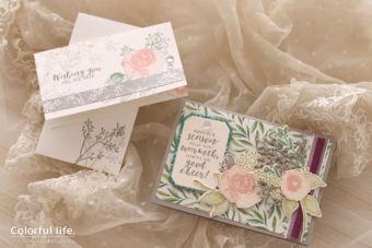 【日程限定 / スタンピン・アップ体験】エレガントな薔薇のカードセット