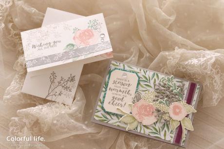 【スタンピン・アップ 体験】エレガントな薔薇のカードセット