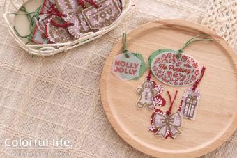 【ダイカット・ヒートエンボス】1度にたくさん♪クリスマスのちびっ子タグ