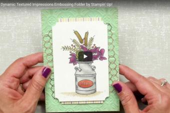 【使い方・活用アイディア動画】ペーパーにタイル模様がつけられる「エンボスフォルダー・ティンタイル」