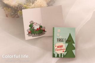 カードパックでカンタン、クリスマスカード(横-カードパック・サンタズ・ワークショップ)