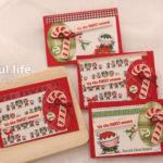 【カンタン・ダイカット】カードパックの活用、キャンディとエルフのクリスマスカード