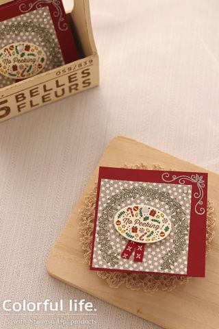 クリスマスプレゼントに添えるミニカード(縦-メニーブレッシングス)