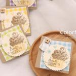 【カンタン・ダイカット(パンチ代用可)】カップケーキのミニカード