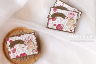 キュート&シックなケーキのカード(横:ピース・オブ・ケーキ)