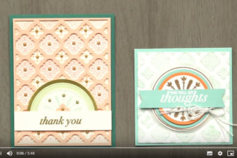 【製品説明・作り方 動画】どうやって作ったの?と思う凝ったカードが意外とカンタンに!フロレンティーン・フィリグリー