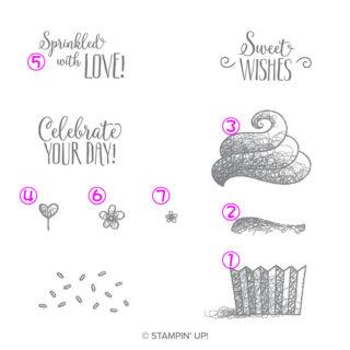 ハロカップケーキスタンプする順序