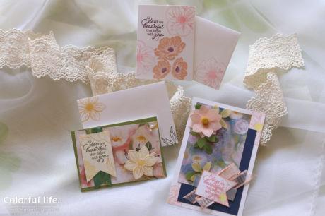 【スタンピン・アップ 6月体験 】印象派風のエレガントカード