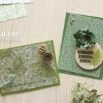【5月体験クラス おまけキットの作り方】森のナチュラルカード(ミニサイズ)