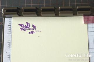 1つのスタンプで2色のインクを使い分け4