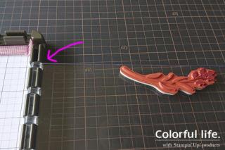 1つのスタンプで2色のインクを使い分け5