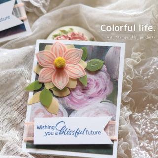 パンチで作るお花のミニカード(1:1アップ/フローラルエッセンス)