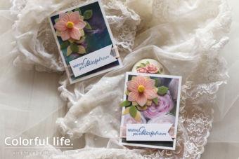 【カンタン】パンチで作るお花のミニカード