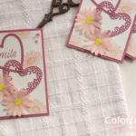 【カンタン・ダイカット】ピンクデイジーのガーリーなカード