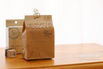 【カンタン・ダイカット】市販のペーパーバッグでカンタンラッピング