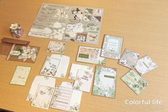 【7月クラスの様子】カードとお揃いのギフトボックスデコレーション