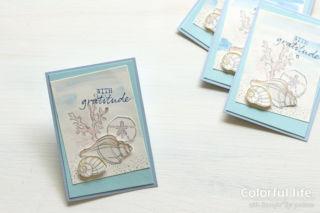 夏に作りたい、涼しげ海のカード1(横:シーサイド・ノーション)