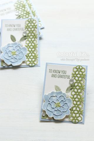 ブルーローズの涼しげなカード(縦:トゥー・ア・ワイルドローズ)
