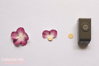 ワシテープ・プレスド・ペタルのお花の作り方1