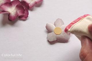 ワシテープ・プレスド・ペタルのお花の作り方2
