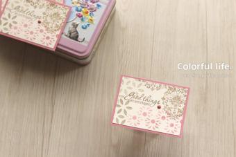 【ダイカットパーツでステンシル】アンティーク調のクラシカルなカード