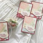 【スタンプ&パンチ】ダイを使わなくてもステキ!ゴージャスな薔薇のミニカード
