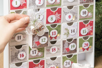 【製品説明・作り方 動画】ゴージャスなアドベントカレンダーが手作りできるキット「クリスマス・カウントダウン」